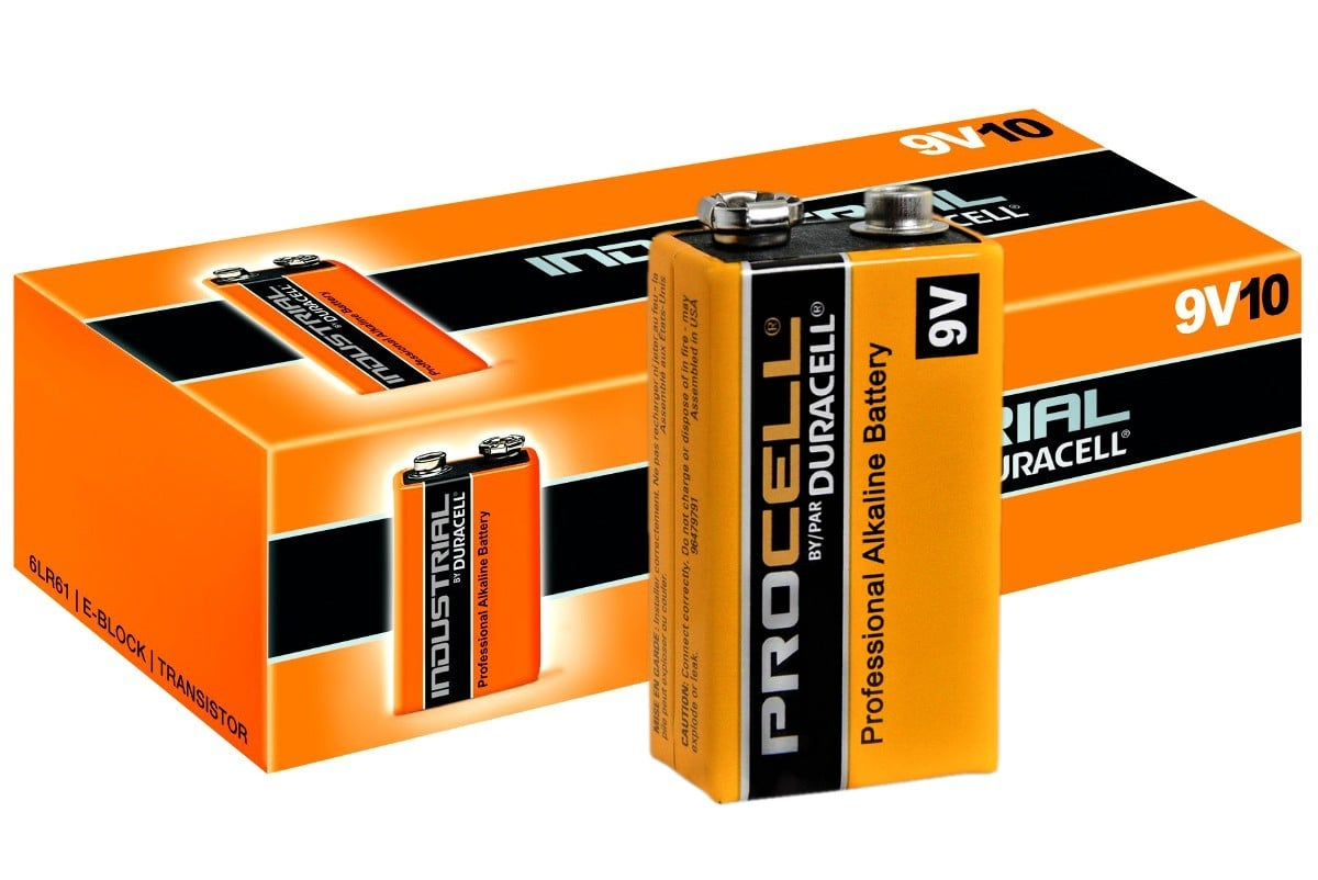 Duracell Industrial 9V 6LR61 (10τμχ)