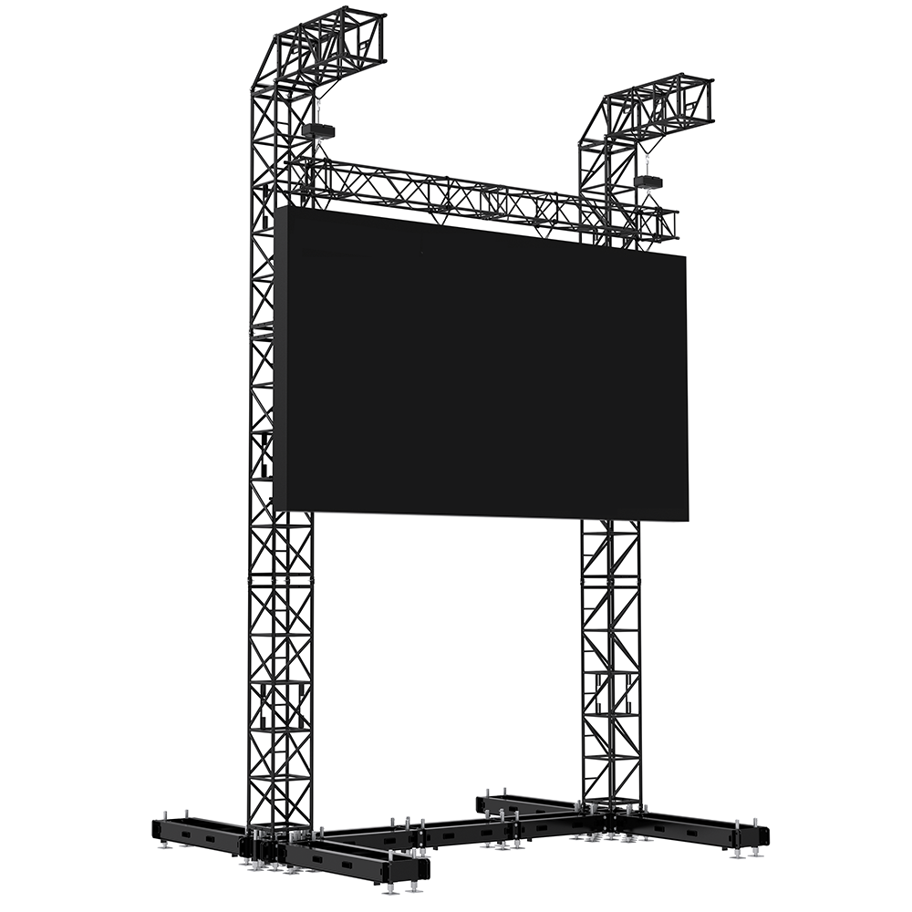 Milos Steel LED Screen Tower