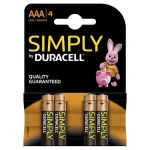 Duracell SIMPLY ALC AAA (Blister 4 Τεμαχίων)