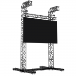 Milos Steel LED Screen Tower