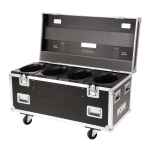 Robe Quad Top Loader Case Spiider®